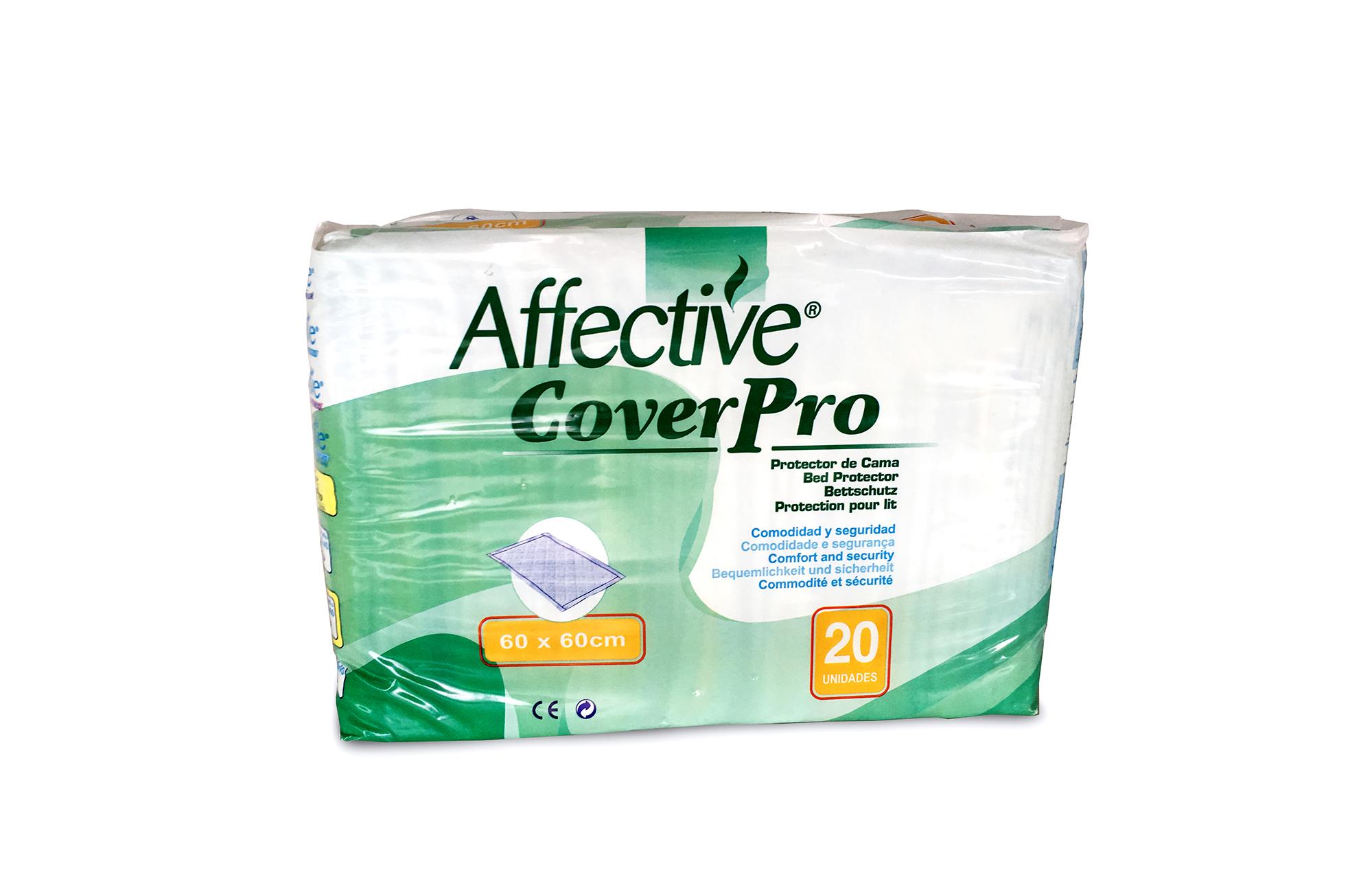 Ebalagem branca e verde, de protetor de cama.